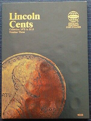 - Whitman Lincoln Cents Vol. #3 1975-2013 Coin Folder, Penny Album Book # 9033
