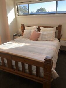 Excellent quality solid wooden strong queen bed frame & wooden slat