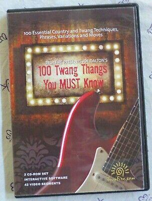 TrueFire 100 Twang Thangs You MUST Know by Joe Dalton 2 CD ROM Course