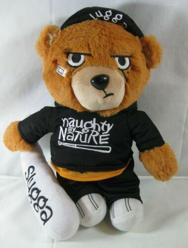 "Naughty by Nature SLUGGA - Old School Rapper Teddy Bear 14"""