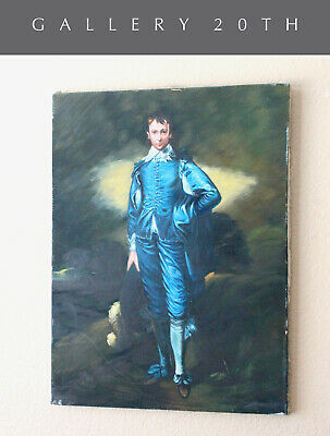 BLUE BOY! ORIGINAL ART OIL PAINTING! SUPERB THOMAS GAINSBOROUGH (Gainsborough Oil)