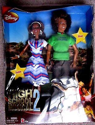 NEW 2007 Disney High School Musical 2 Taylor & Chad Barbie Dolls NIB