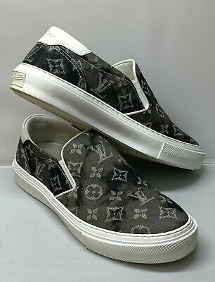 Louis Vuitton Trocadéro Slip-On Black Men's Sneaker/Shoes Size:7.5