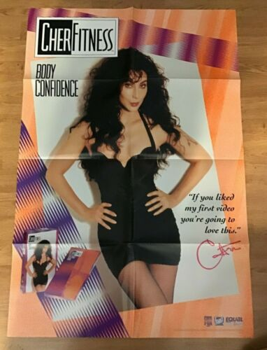 "Cher Fitness Body Confidence CBS FOX PROMO 25"" x 38"" Folded Poster-1992-#961"