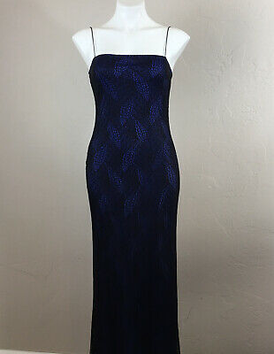 Rampage Maxi Dress Size M Evening Gown Blue & Black