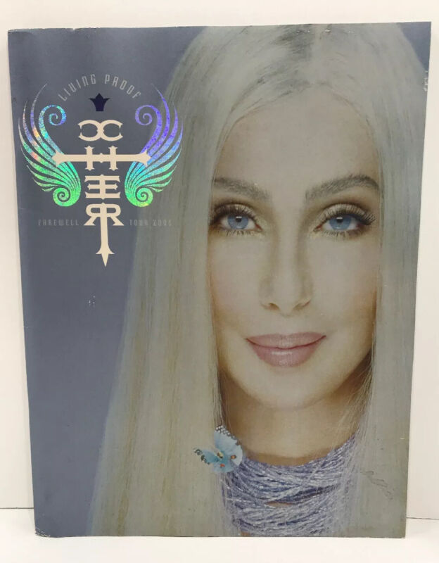 CHER 2005 LIVING PROOF FAREWELL TOUR CONCERT PROGRAM POSTER COLLECTORS BOOK