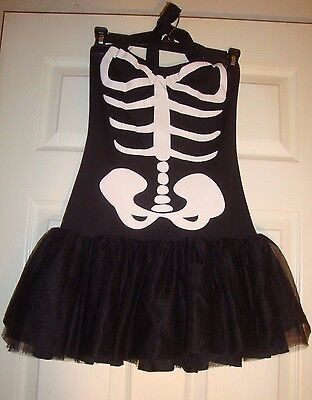 LEG/AVENUE~junior's~HALLOWEEN/SKELETON/BLACK/HALTER/DRESS!(X/S) BRAND/NEW! CUTE!](Cute Skeleton Halloween Costumes)