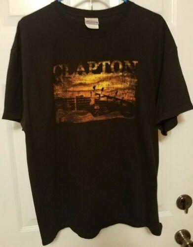 """Hanes Label - ERIC CLAPTON """"SLOWHAND"""" Concert Tour (XL) T-Shirt GUITAR"""