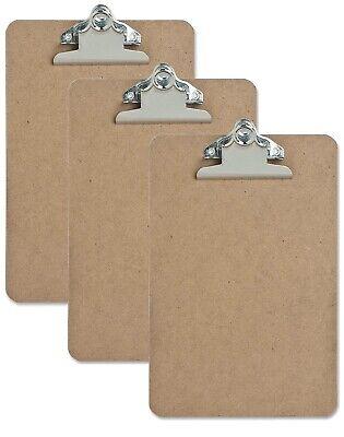 3 Pack Mini Clip Board 6x9 - Brown