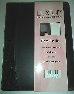Buxton 9 X 12 Writing Portfolio Padblk Croco-see Description For Pictures