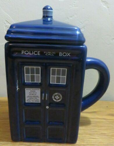 Doctor Who ZEON 2004 Police Public Call Box Porcelain Tea Coffee Cup Mug