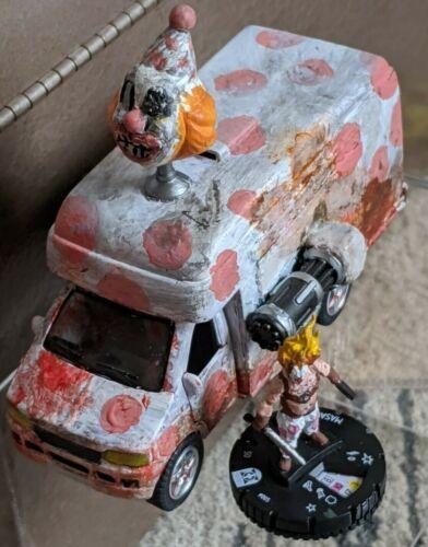 Custom Heroclix Sweet Tooth Killer Clown and Ice Cream Truck Miniatures Mini