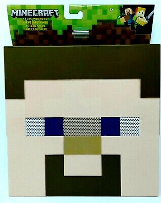 Steve Head Mask (Minecraft Steve Mob Head Face Mask Costume New Collectible Mojang Toy)