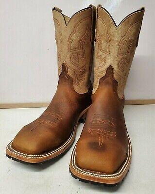 Anderson Bean 4604 Western Boots Steel Toe Briar Cow Hide Tan Sinsation  Cow Western Boots