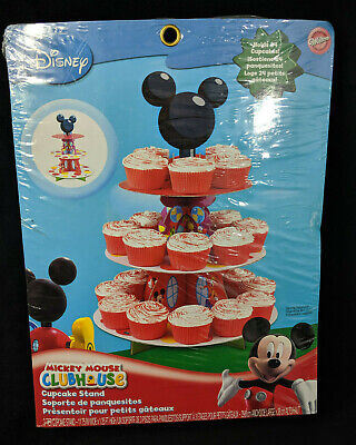 Mickey Mouse Clubhouse 3 Tier Cupcake Stand 24 Cupcakes Party Supplies NEW