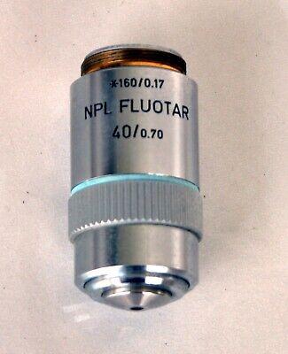 Leitz Wetzlar Npl Fluotar 40x 1600.17 Labophotoptiphot Microscope Objective