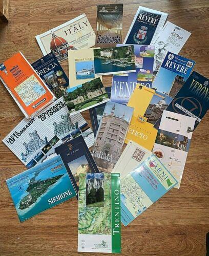 Lot of Vintage Italian Travel Ephemera - Maps, Museum Guides, Brochures, & more