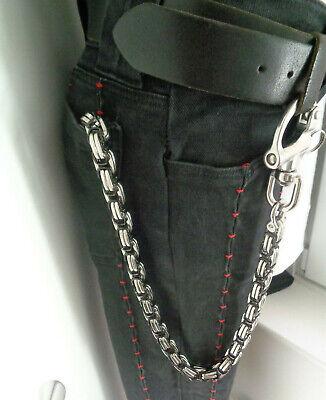 XL Geldbeutelkette Hosenkette Edelstahl Wallet Chain Biker Rockabilly 50/12