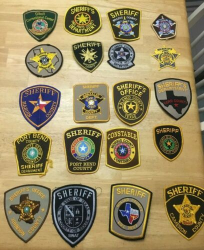 NICE LOT OF 20 TEXAS COUNTY  SHOULDER PATCHES  TX01