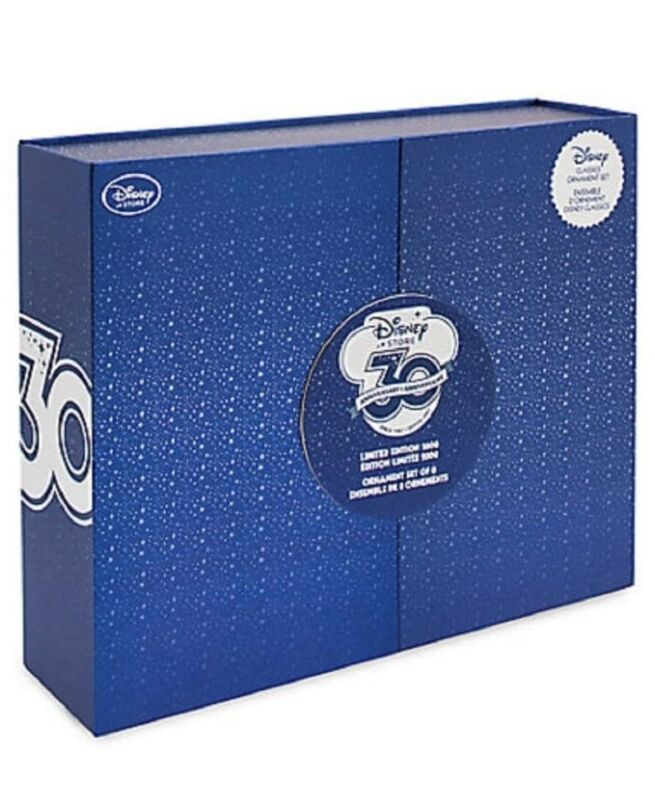 Disney Store 30th Anniversary Classic Limited Edition Ornament Set Sketchbook 8