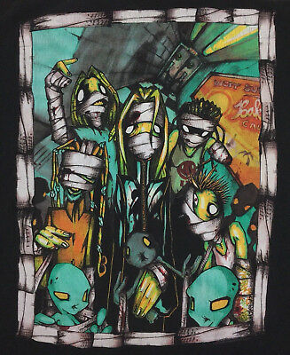 Korn T-Shirt Vintage 2001 Hand Logo Big Graphic Tour Concert Rock Band Retro Tee