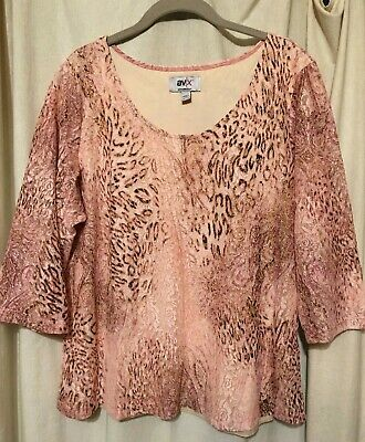 New without tags, Avenue Size 18/20 Pink and Brown Animal Print Lined Lace -