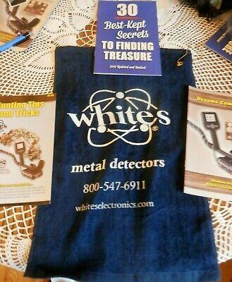 NEW WHITES METAL DETECTOR DETECTING TOWEL + 30 BEST KEPT SECRETS, TREASURE TIPS  30 Metal Detector