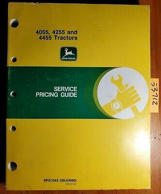 John Deere 4055 4255 4455 Tractor Service Pricing Guide Manual Spg1042 690