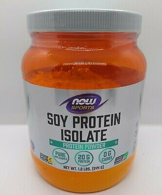 NOW Sports Nutrition, Soy Protein Isolate 20 G, 0 Carbs, Unflavored Powder, 1.2-