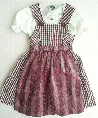 Girls Vintage Bavarian Dress 2 PieceOktoberfest Dsar Trachten Size 92 US Sz 2-4