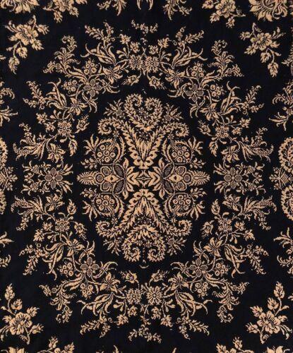 Antique Coverlet 1845 Woven Primitive Bedspread 71x93 2 Panel Blue Beige