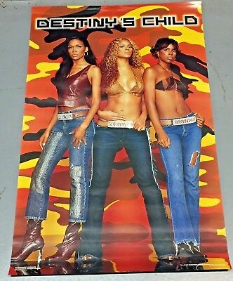 Vintage 2001 Destiny's Child Poster w/ BEYONCE never previously displayed 22x34