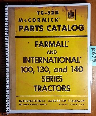 Ih International Mccormick Farmall 100 130 140 Tractor Parts Manual Rev 1 260