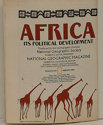 Vintage 1980 National Geographic Map of Africa w/Historical Notes