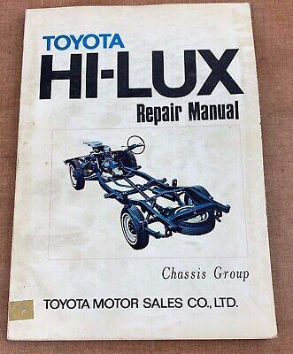 1970 TOYOTA HI-LUX Factory REPAIR MANUAL Chassis Group