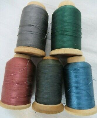 Lovely Vintage French Silk Thread Bobbins