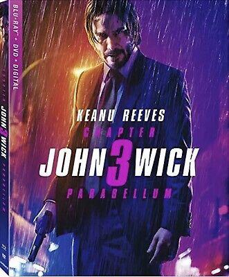 JOHN WICK:CHAPTER 3 PARABELLUM(BLU-RAY+DVD+DIGITAL)W/SLIPCOVER NEW