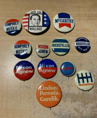 1968 Lot of Campaign Buttons