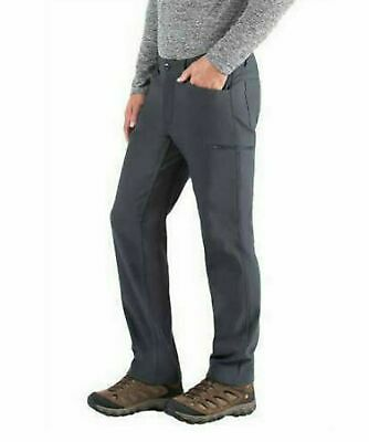 BC Clothing Expedition Men's Fleece Lined Soft Shell Pants CHARCOAL 36x30