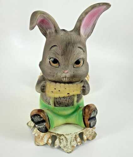 Vintage Aladdin Giftware Light Rabbit With Corn On The Cob