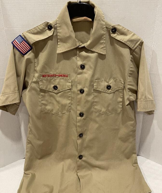 Boy Scouts America BSA Webelos Scout Uniform Shirt Youth Large Short Sleeve