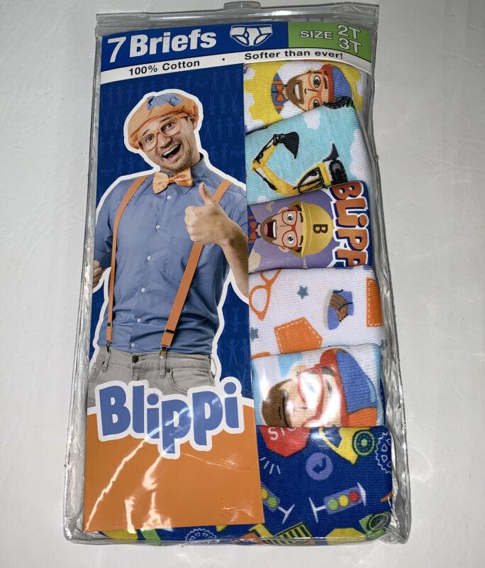 Blippi Toddler Boys Underwear Briefs 7 Pairs Size 2T-3T New