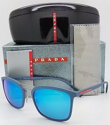 196df22ddc59 New Prada sunglasses PS 03SS VHG5M2 Linea Rossa Blue Mirror Classic Sport  PS03