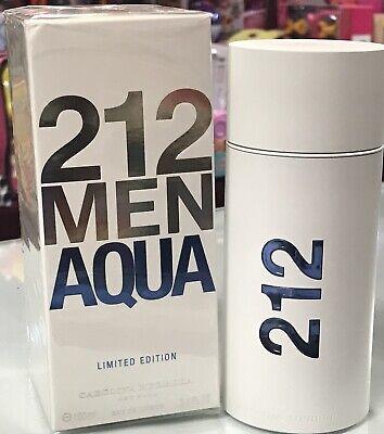 212 MEN Aqua Carolina Herrera EDT 3.4oz Men Cologne Acqua 100ml Limited edition