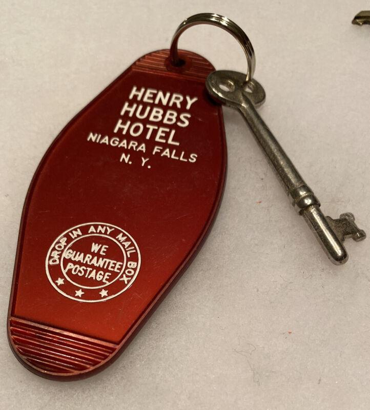 Niagara Falls NY New York HENRY HUBBS HOTEL Advertising Hotel Motel Room Key Fob