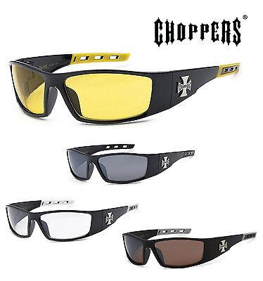 1 PAIR Choppers Mens Riding Biker Motorcycle Day Night Glasses Sunglasses C50 (C50 Sunglasses)