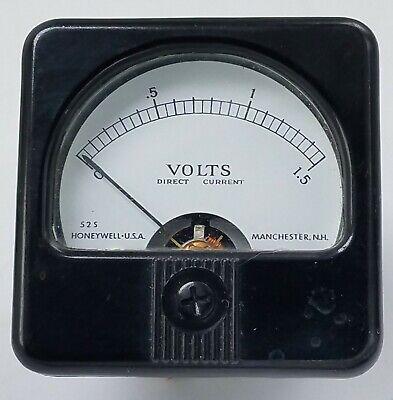 Vtg Honeywell Model 525 0-1.5 Dc Direct Current D.c. Volts Voltage Panel Meter