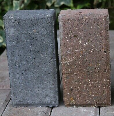 Block Paving (Used) Red & Black total of 10.5m2 (525 x 200 x 100 x 50 mm)
