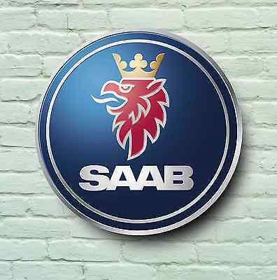 SAAB BADGE LOGO 2FT GARAGE SIGN WALL PLAQUE CAR CLASSIC WORKSHOP 92 93 94 95 99