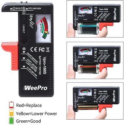 New 2021 Battery Tester Checker Monitor For AAA, AA, C, D, 9V And Small Batteries